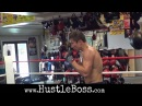 Gennady Golovkin showing off his speed and movement while shadowboxing at the Summit Gym
