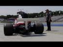 Мика Хаккинен за рулем McLaren M23 на Лагуна-Секе.