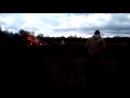 Место падения истребителя МиГ-29 в Московской области
