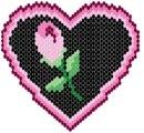 Сердце з розой.  4. 1. Снижинка.  Для тех хто вышивает бисером есть замечательные картины ( в схемах).