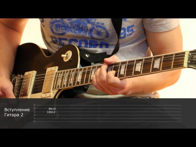 Как играть на гитаре Дурак и молния - Король и шут ( видеоурок Guitar riffs) табы