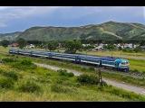 Дизель-поезд ДР1А-230 на перегоне Защита — Коршуново, Усть-Каменогорск, Казахстан.