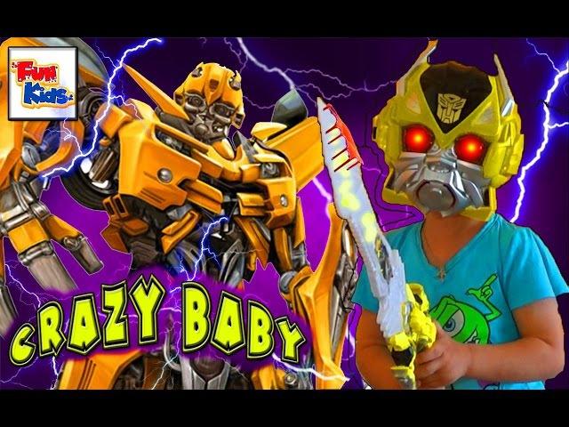 Трансформеры Роботы под Прикрытием Бамблби Распаковка Игрушки Robot Transformers Bumblebee U...