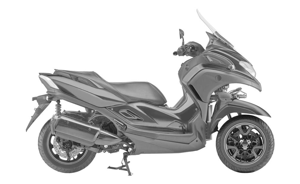 Компания Yamaha патентует скутер Yamaha 3CT