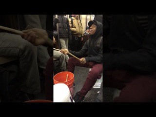Sadio Soumounou, Drummer on NYC Subway Covers Justin Bieber, Rihanna, Temptations, Drake