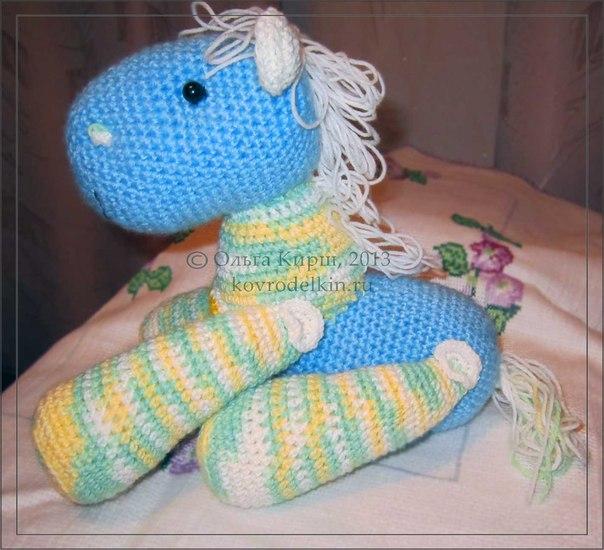 амигуруми, пони, связать крючком, год лошади