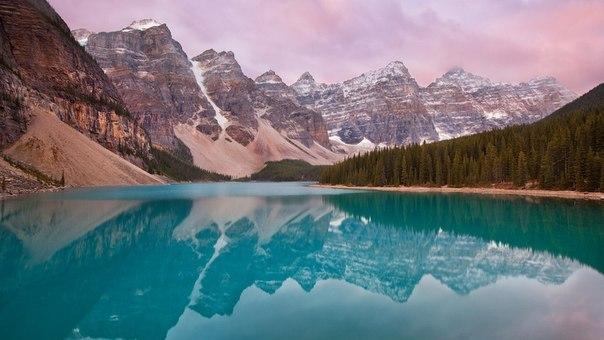 Озеро в провинции альберта канада
