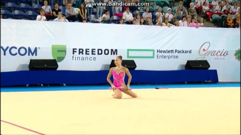 Сабина Аширбаева - булавы, финал Asian Championships, Astana, Kazakhstan - 24 - 27.06.2017
