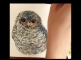 Finally! The full video of painting my sweet baby-owl from the very beginning up to the last touches with white pen.You can see