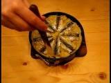 Рецепт - Торт -запеканка с мелкой рыбой, картошкой и помидорами