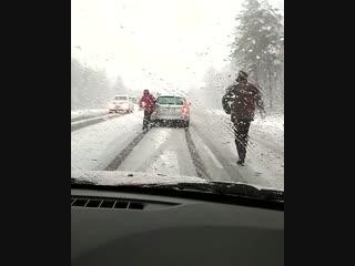Ульяновцы, будьте осторожны на дорогах! Такая ситуация сейчас около Димитровграда 😒