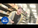 Vape shop worker LOSES IT and refuses to serve Trump supporter