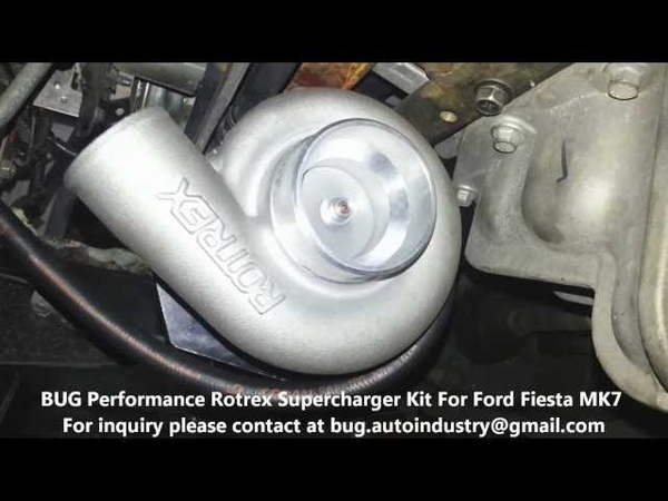 Rotrex C15-60 on Ford Fiesta MK7 1.4MT