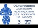 Облегчённые домашние тренировки для мужиков на массу 3 тр