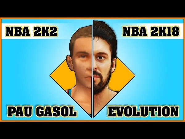PAU GASOL evolution [NBA 2K2 - NBA 2K18]