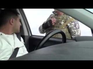29.09.2014 Беспредел на дорогах Украины быдло армия!!!!