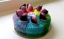 Бисквитный торт для Академии колористики Марии Мельниковой.