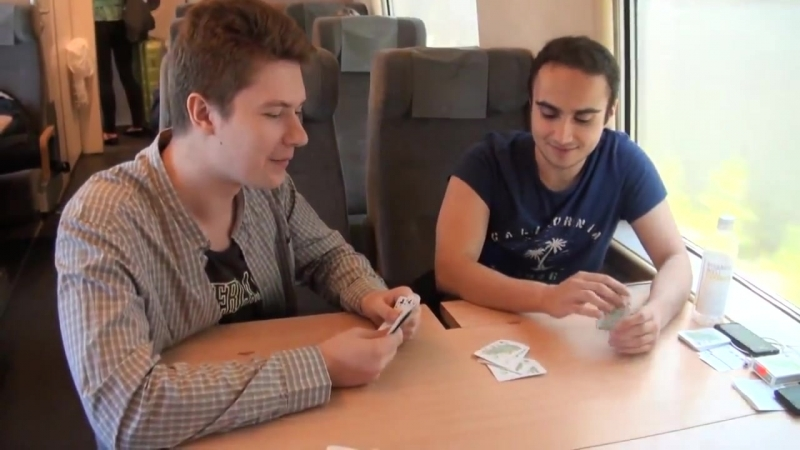 Puppey, KuroKy and yoloAsh playing cards @ DreamHack Summer 2013