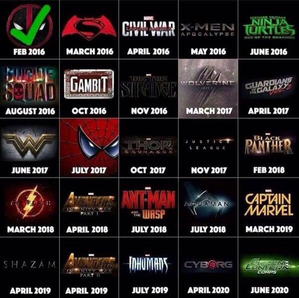Расписание фильмов на июль 2018