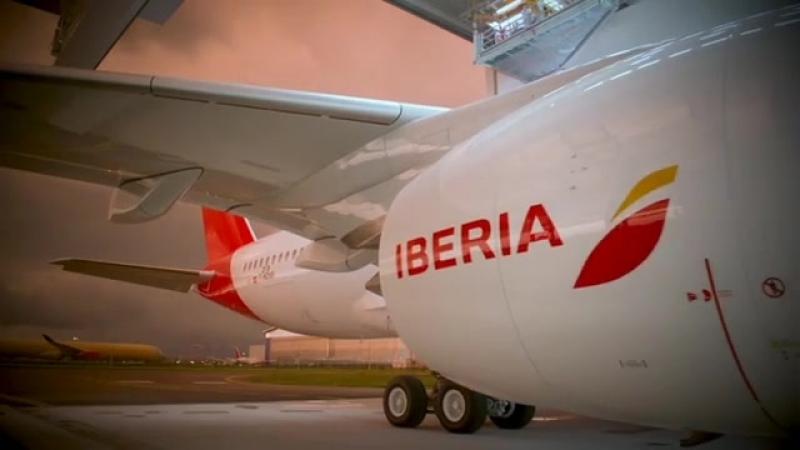 Iberia: Placido Domingo plane.