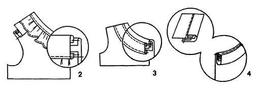 Схема узла обработки обтачкой