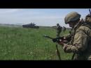 В Курской области ударные роты войск РХБ защиты ЗВО отработали освобождение города в условиях радиационного заражения