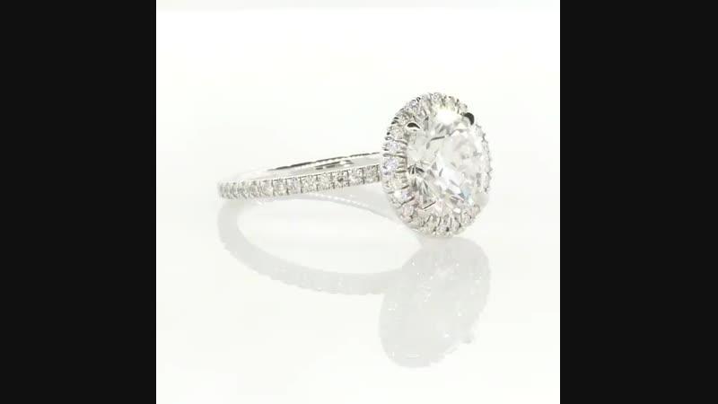 Сумашедшее кольцо !! 2,4 сt./ белое золото 750 / GIA сертификат / В наличии!