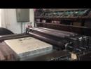 Машина для печати литографий Schnellpresse в гамбургском Museum der Arbeit