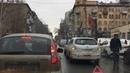 Пробка на Чапаева из-за небольшой аварии