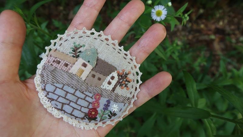 퀼트 프랑스자수 브로치 만들기 │Quilt Embroidery Brooch │ How To Make DIY Crafts Tutorial