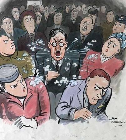 Кашляя и чихая, вы разносите болезни! Британский плакат 1940-х