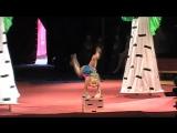 Красота спасет мир-каучук.Первое выступление на арене цирка.Цирковой конкурс .