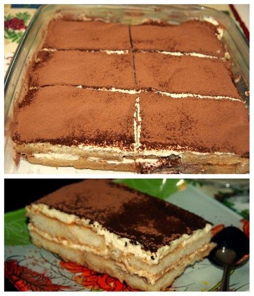Торт без выпечки с маскарпоне рецепт с фото