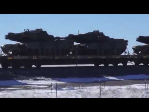 Military Equipment Moving East - 11132018