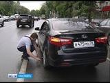 Автомобиль провалился в люк на проспекте Толбухина в Ярославле