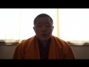 Kyabje Dilgo Khyentse Yangsi Rinpoche dedicating to the Drubwang Dorzong Rinpoche for passing away into the Pari Nirvana.