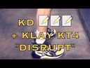 Klay wears new Anta KT4 Disrupt shoe KD (Kevin Durant) signing autographs, pregame Warriors-Nets