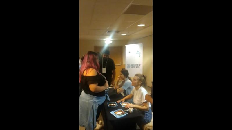 Шелли Хенниг на автограф сессии Darkmoon Reunion 2 Рио де Жанейро