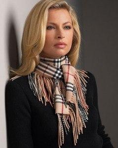 как носить шарфик