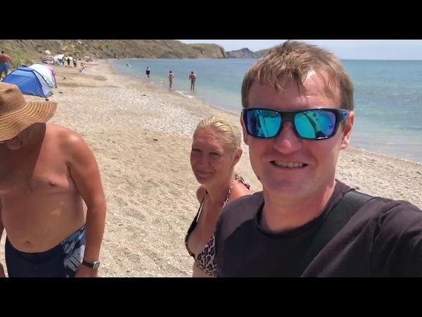 Крым 2018 Отдых в Коктебеле Секретный НУД пляж Бесплатный отдых в палатке