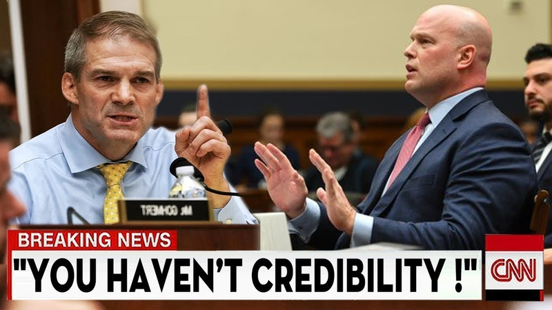 GOP's Jim Jordan Gets Angry with Whitake on Mueller's memo during a House Judiciary Hearing