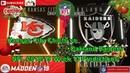 Kansas City Chiefs vs. Oakland Raiders | NFL 2018-19 Week 13 | Predictions Madden NFL 19