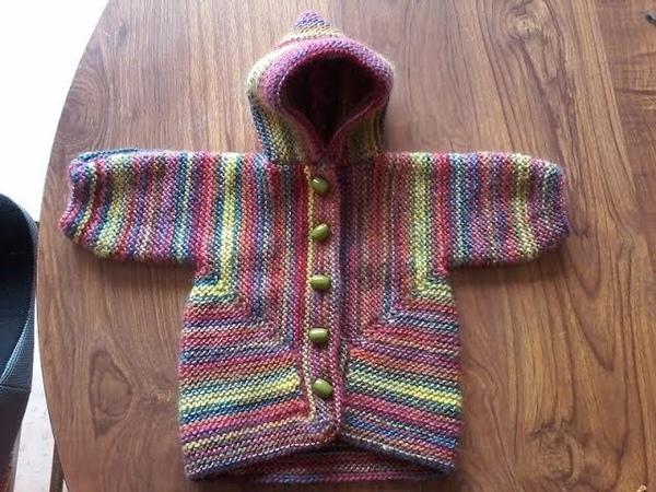 DIY / tricoter un gilet bebe à capuche / surprise jacket bebe 3 mois