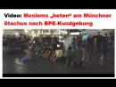 Moslems beten am Münchner Stachus