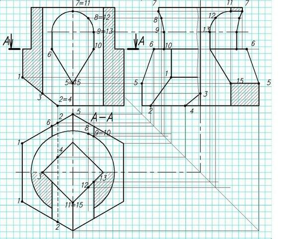 инженерная графика буквы: