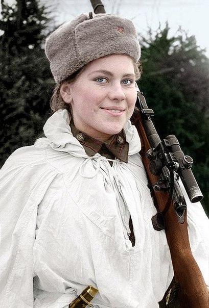 Советский снайпер-одиночка, Кавалер Ордена Славы 2-й и
