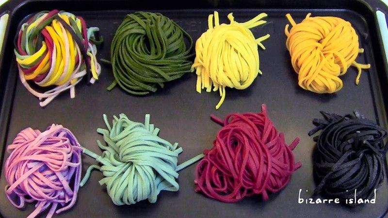 Разноцветная паста