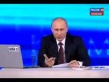 Прямая линия с Владимиром Путиным  6 ти летняя девочка задала вопрос Путину про