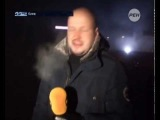 Евромайдан  Журналиста ранило гранатой в прямом эфире