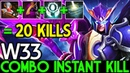 W33 [Skywrath Mage] Combo Instant Kill 20 Kills 7.19 Dota 2
